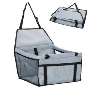 Folding Safety Pet Car Seat Carriers - Grey - JBCoolCats