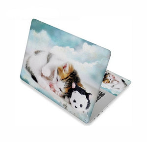 Adorable Kitty Cat Laptop Skins - Blue Skies Kitty - JBCoolCats