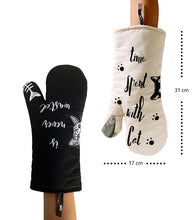 Load image into Gallery viewer, Cat Themed Heat Resistant Oven Mitts - Size - JBCoolStuff