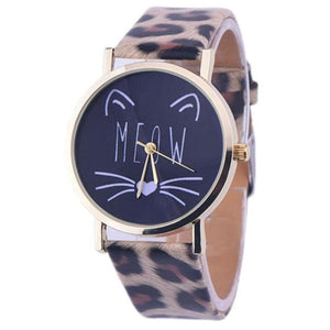 Cat Face Quartz Watch - Leopard - JBCoolCats