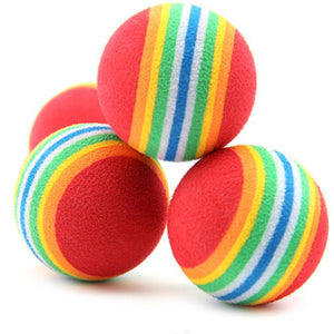 Kitten Soft Foam Rainbow Balls - Alt View - JBCoolCats