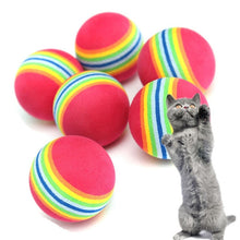 Load image into Gallery viewer, Kitten Soft Foam Rainbow Balls - Cat Toys - JBCoolCats