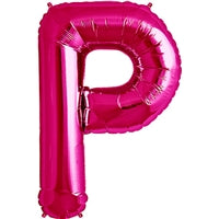 "34""N Magenta Letter P - Havin' A Party Wholesale"