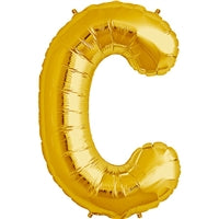 "34""N Gold Letter C - Havin' A Party Wholesale"