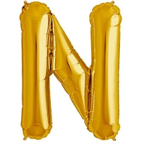 "34""N Gold Letter N - Havin' A Party Wholesale"