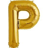 "34""N Gold Letter P - Havin' A Party Wholesale"