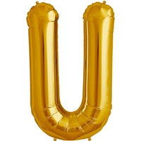 "34""N Gold Letter U - Havin' A Party Wholesale"