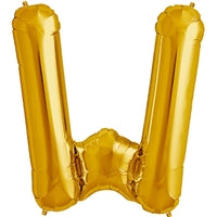 "34""N Gold Letter W - Havin' A Party Wholesale"