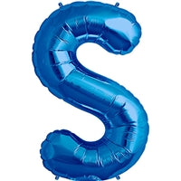 "34""N Blue Letter S - Havin' A Party Wholesale"