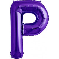 "34""N Purple Letter P - Havin' A Party Wholesale"