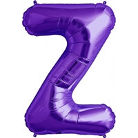 "34""N Purple Letter Z - Havin' A Party Wholesale"
