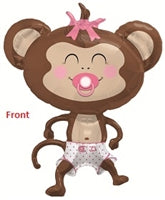 "14""N Baby Monkey, Girl - Havin' A Party Wholesale"