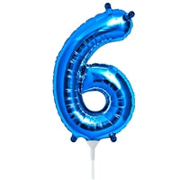 "16""N Blue Number 6 - Havin' A Party Wholesale"