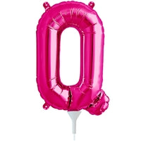 "16""N Magenta Letter Q - Havin' A Party Wholesale"