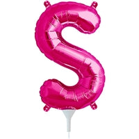 "16""N Magenta Letter S - Havin' A Party Wholesale"