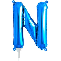 "16""N Blue Letter N - Havin' A Party Wholesale"