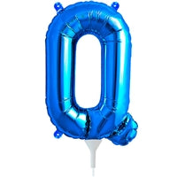 "16""N Blue Letter Q - Havin' A Party Wholesale"
