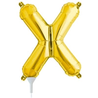 "16""N Gold Letter X - Havin' A Party Wholesale"