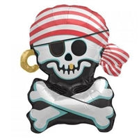 "29""N Pirate Skull and Cross Bone, Jolly Roger - Havin' A Party Wholesale"