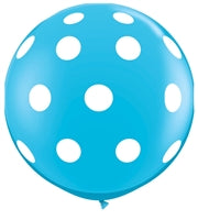 "36""Q Dots Big, Robin's Egg with White print - Havin' A Party Wholesale"