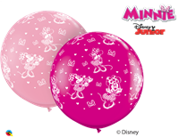 "36""Q Minnie Mouse, Pink/Wild Berry Print - Havin' A Party Wholesale"