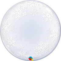 "24""Q Deco Bubble, Snowflakes - Havin' A Party Wholesale"