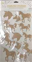 Stickers, Unicorn Rose Gold - Havin' A Party Wholesale