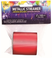 Mylar Streamer, Red - Havin' A Party Wholesale