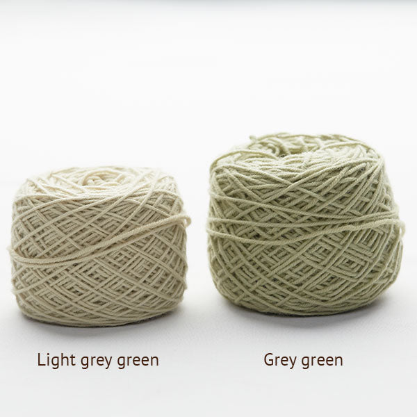 Plant dyed organic knitting wool ball