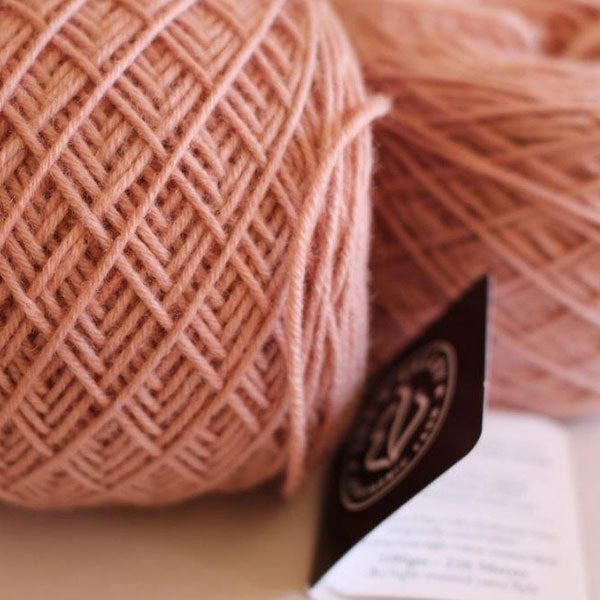 "Two limited edition ""Kate Pink"" knitting wool balls"