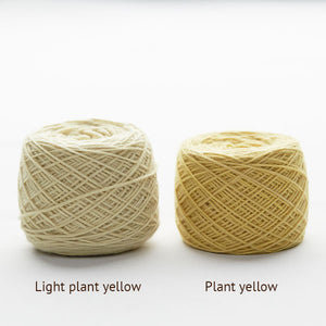 Plant dyed knitting wool ball