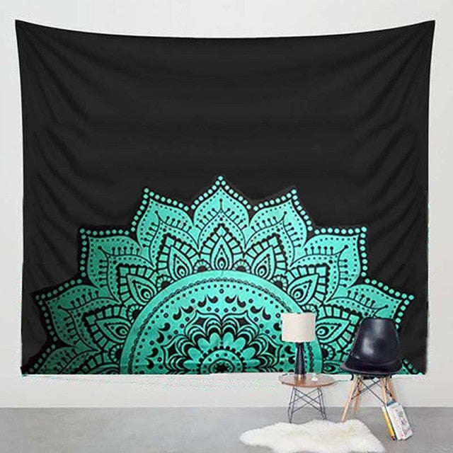 Printed Lotus Tapestry