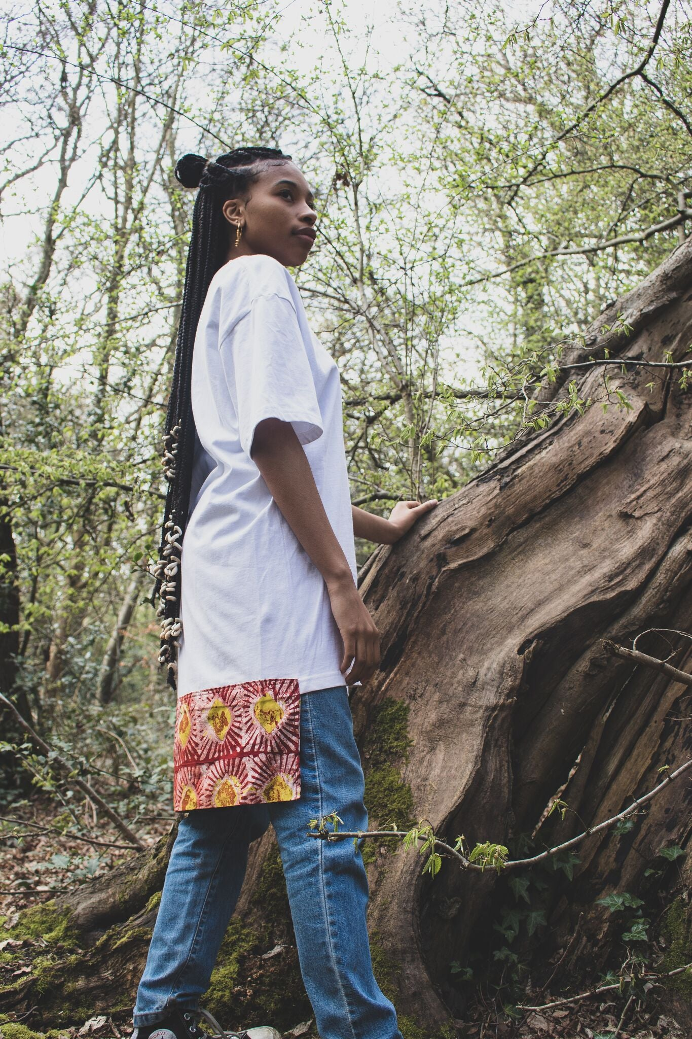 Diamond Tail African Print Longline Top - Made By Lizzy
