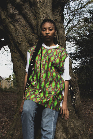 Snake African Print Longline Top - Made By Lizzy