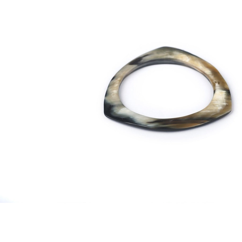 Zebu Horn Round Triangle Bangle - Made By Lizzy