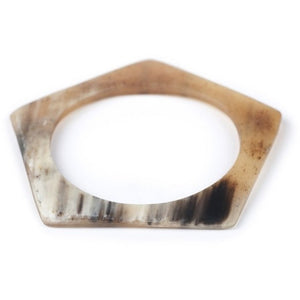 Zebu Horn Pentagon Bangle - Made By Lizzy