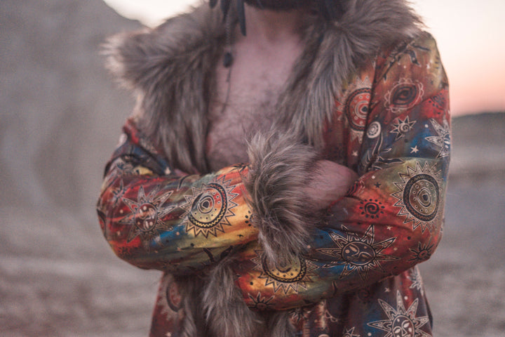 This reversible fur coat is on waiting list now #burningman