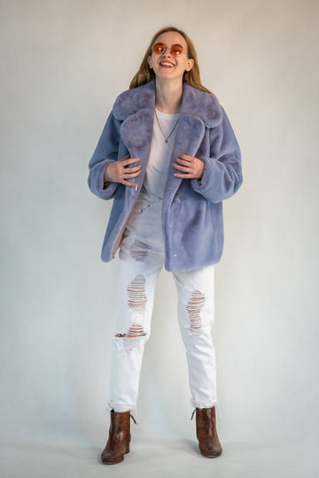 Cropped lilac jacket - LOOKHUNTER