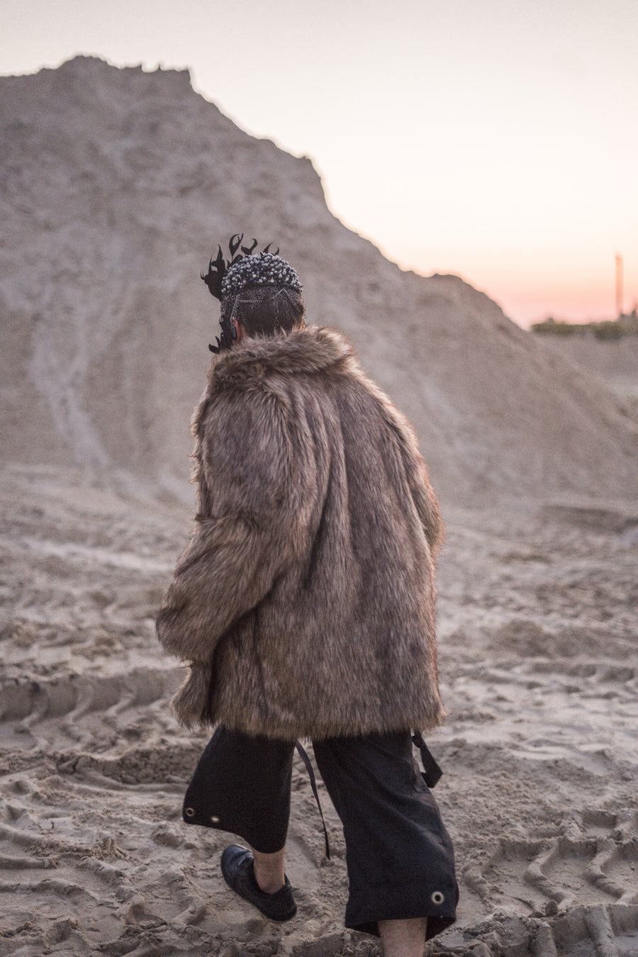Reversible faux coyote fur jacket - LOOKHUNTER