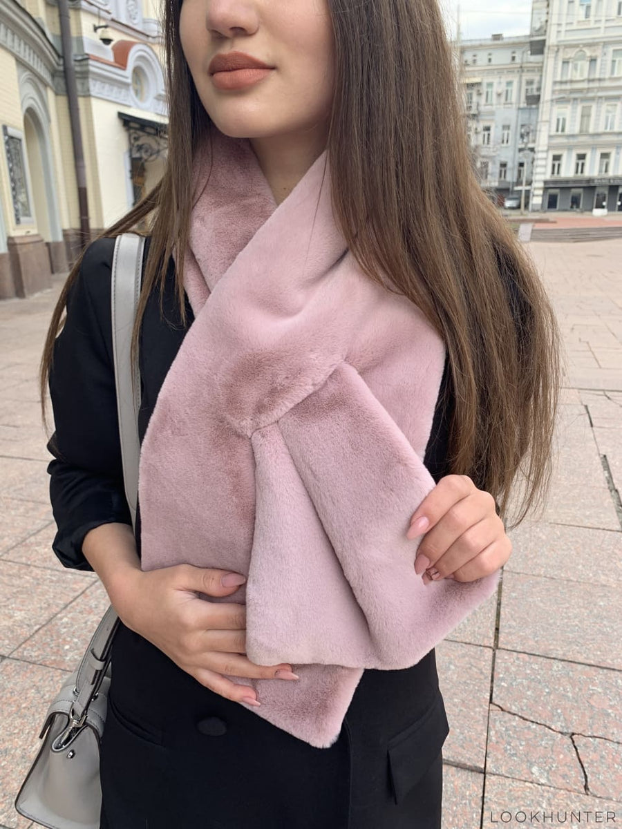 Blush faux fur wrap - LOOKHUNTER
