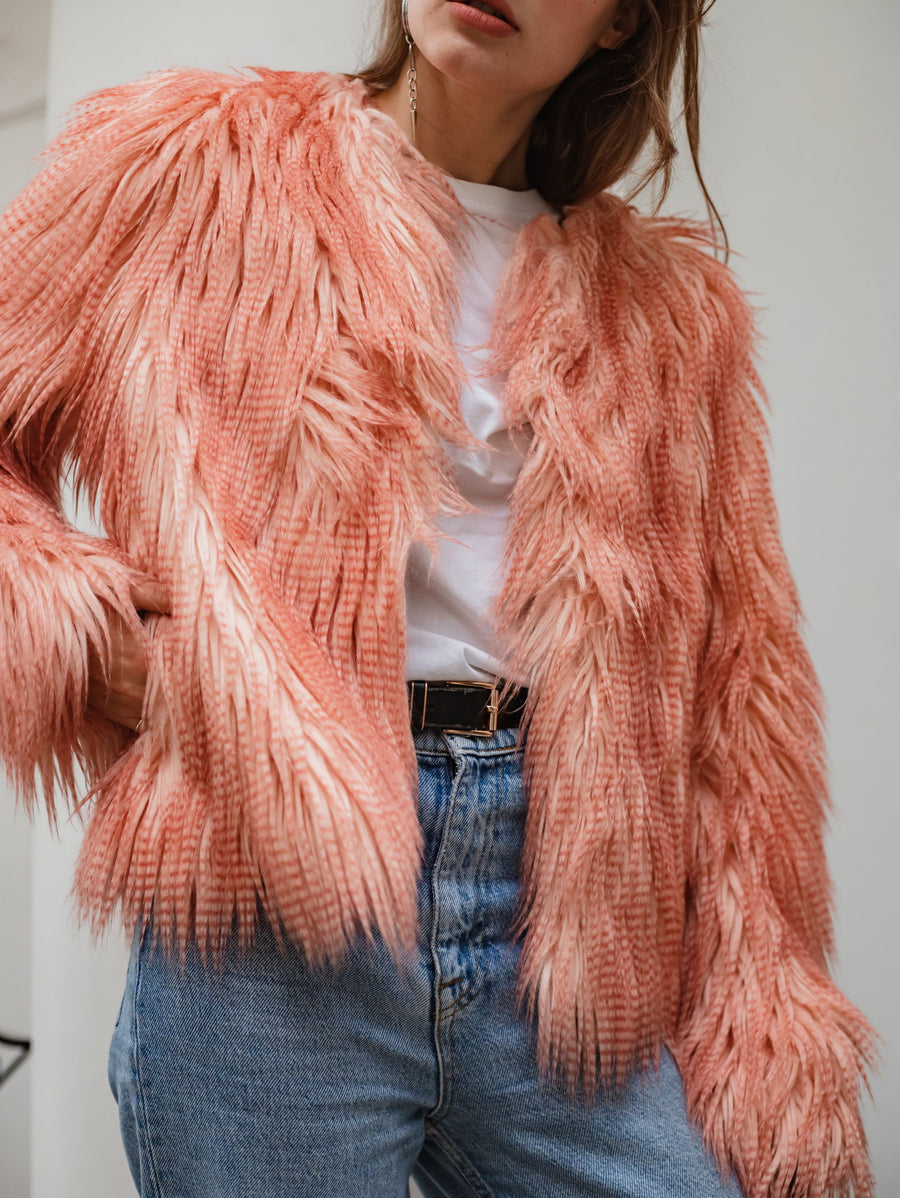 Pink peach cropped jacket