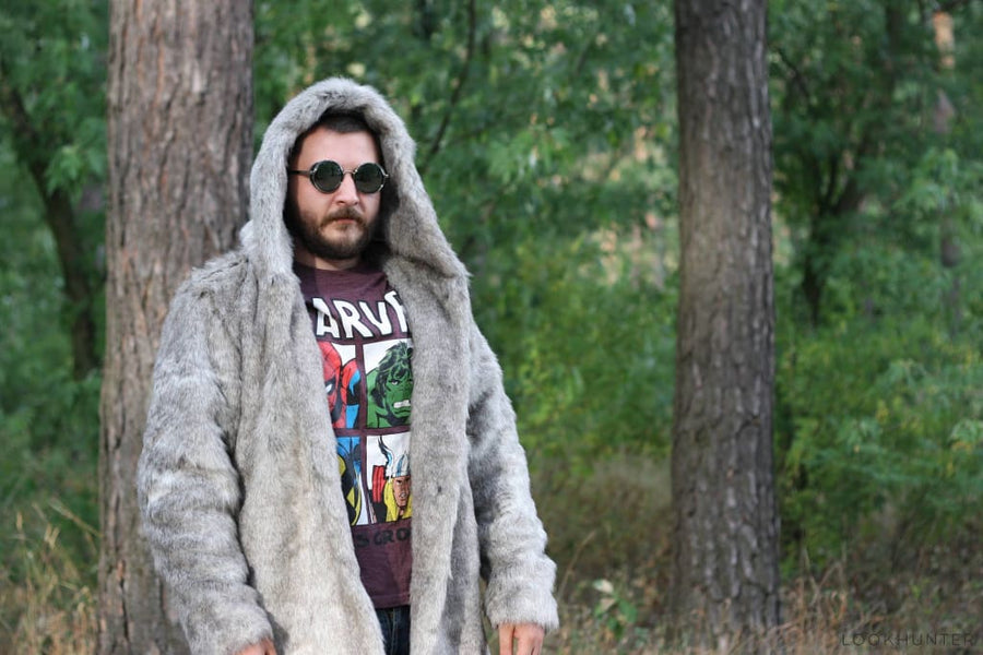Warrior hooded faux fur jacket - LOOKHUNTER