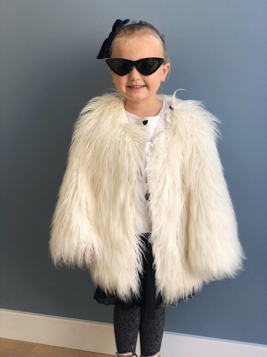 Emerald kids faux fur jacket - LOOKHUNTER