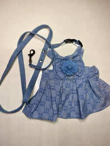 GUCCI BLUES HARNESS DRESS