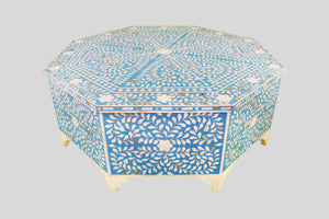 Octogonal Coffee Table in Mellow Azure