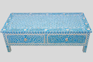 Mother of Pearl Coffee Table in Mellow Azure