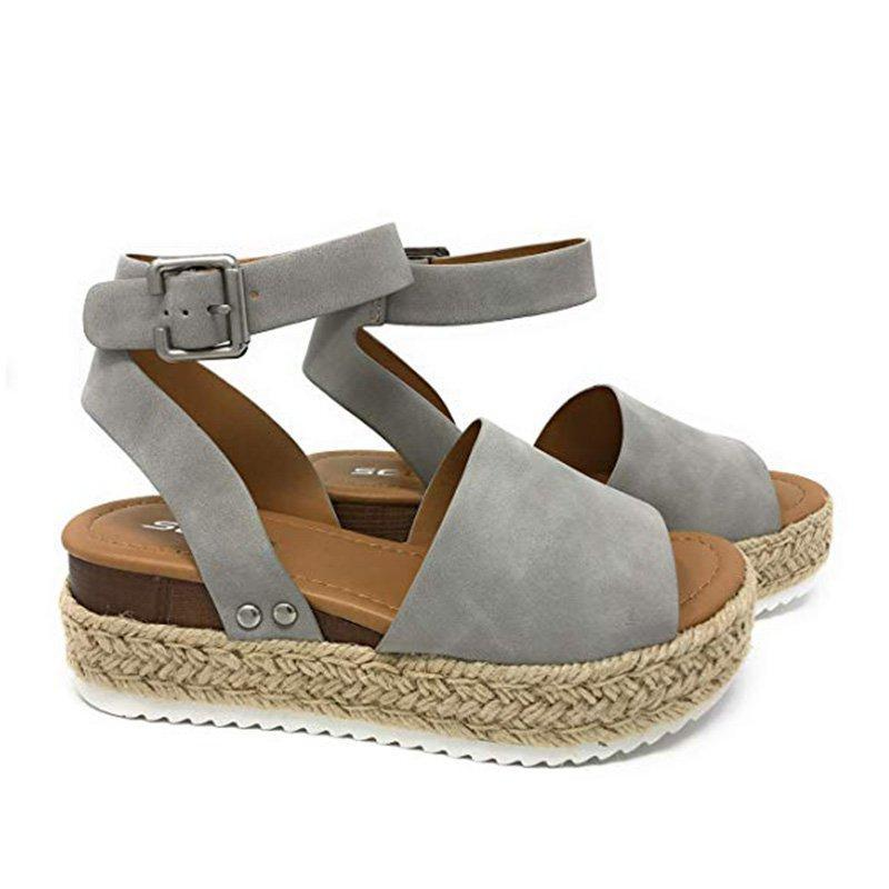 Sandalias Casual Hebilla Adjustable Cuero Artifical Verano-Zapetero
