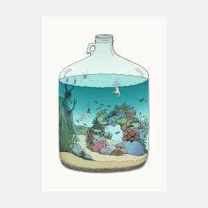 Ilustracion Deep Sea Diving - Galeria Babel