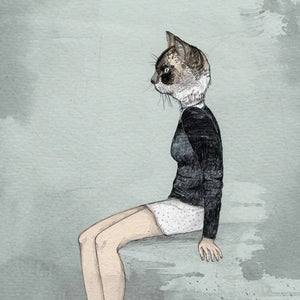 Ilustracion Cat Woman - Galeria Babel
