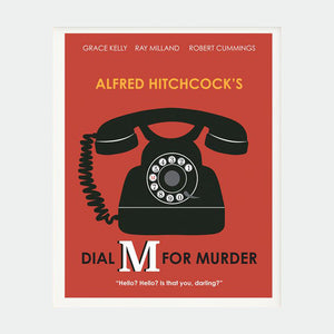 Ilustracion Dial M for a Murder - Galeria Babel